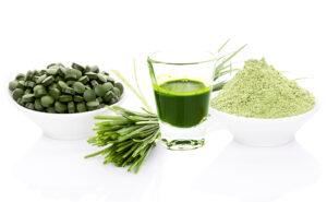 Weizengrassaft-Weizengraspulver